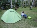 Notre tente, la seule de tout le camping ^^ !