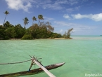 Pirogue dans la Baie d'Upi
