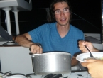 Préparation du repas : crevettes au curry + riz !